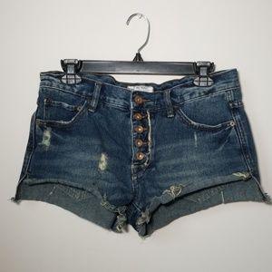 Free People denim shorts